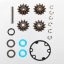 Gear set, differential (output gears (2)/ spider gears (2)/ spider gear shaft)/ output gear seals (x-ring) (2)/ diff gasket (1)/ hardware