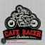 บล๊อคปัก CAFE RACER-พื้นผ้าดำ