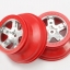 """Wheels, SCT satin chrome, red beadlock style, dual profile (2.2"""" outer, 3.0"""" inner) (4WD front/rear, 2WD rear only) (2)"""