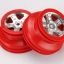"""Wheels, SCT satin chrome with red beadlock, dual profile (2.2"""" outer, 3.0"""" inner) (2)"""