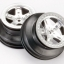 "Wheels, SCT satin chrome, beadlock style, dual profile (2.2"" outer, 3.0"" inner) (2WD front)"