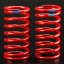 Spring, shock (red) (GTR) (5.9 rate blue) (std. rear 120mm) (1 pair)