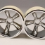 """TRX Pro-Star chrome wheels (2) (front) (for 2.2"""" tires)"""