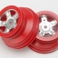 "Wheels, SCT satin chrome, red beadlock style, dual profile (1.8"" inner, 1.4"" outer) (2)"