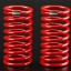 Spring, shock (red) (GTR) (4.9 rate silver) (std. front 120mm) (1 pair)