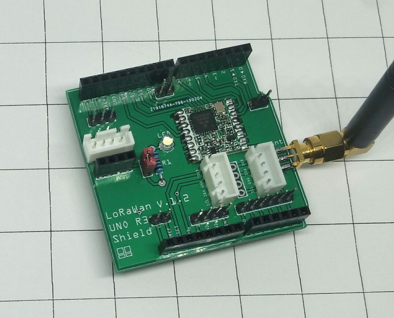LoRa หรือ LoRaWAN Shield V 1 2 สำหรับ ทำ Node ด้วย Arduino UNO R3