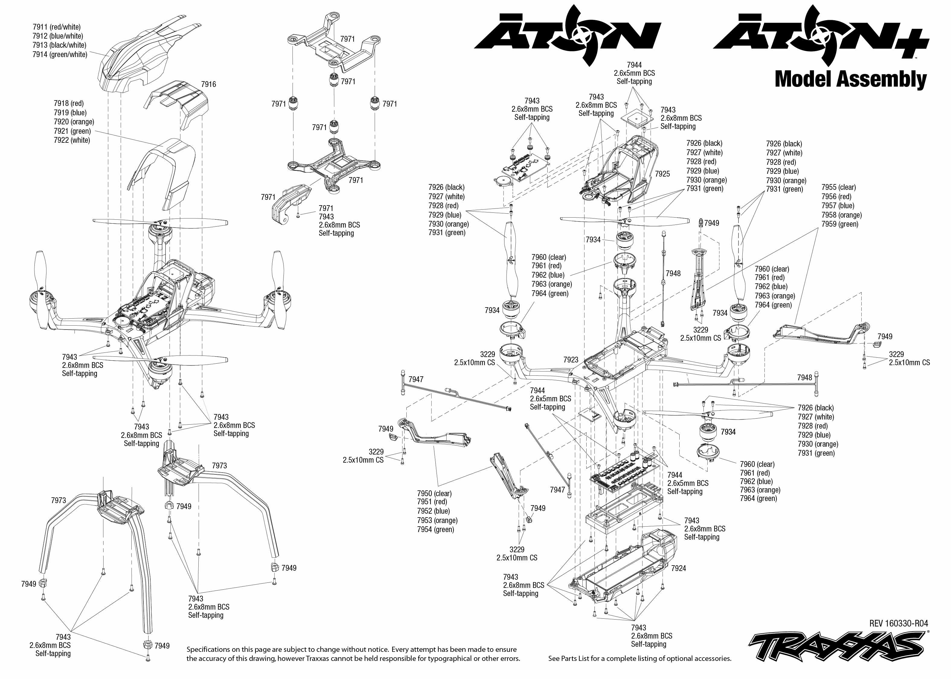 ⚙ All Spare Parts (Exploded View) - NSP Hobby ศูนย์นำเข้า